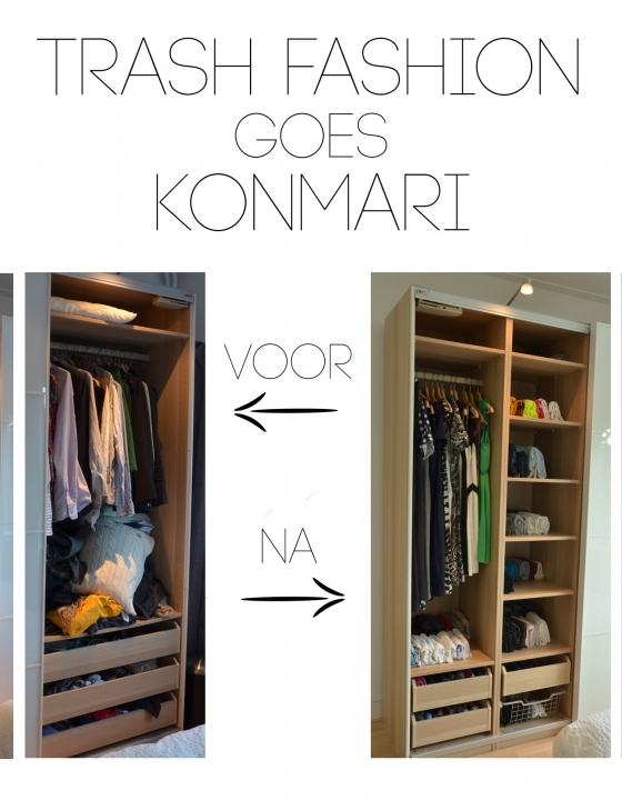 TrashFashion goes KonMari deel 2: Voor en na + lessons learned
