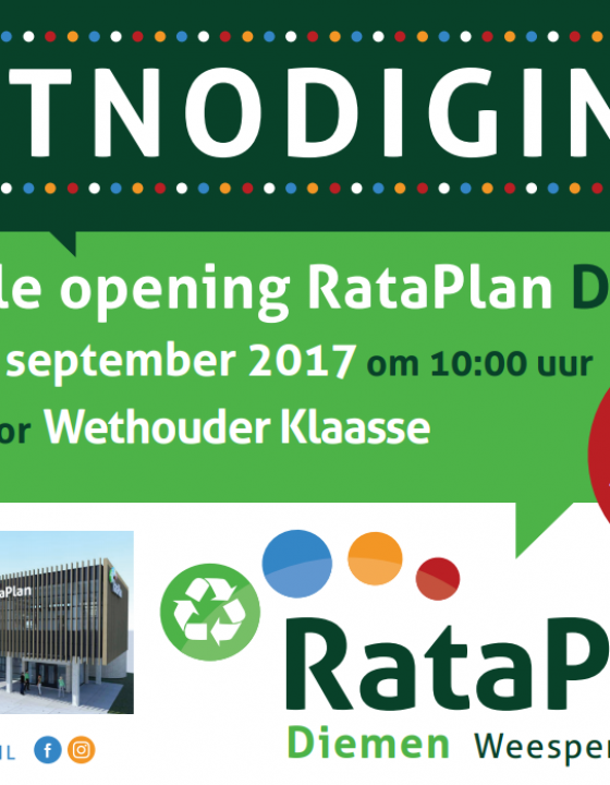 Save the date! 1 en 2 september: opening RataPlan Diemen 2.0 en modeshow!