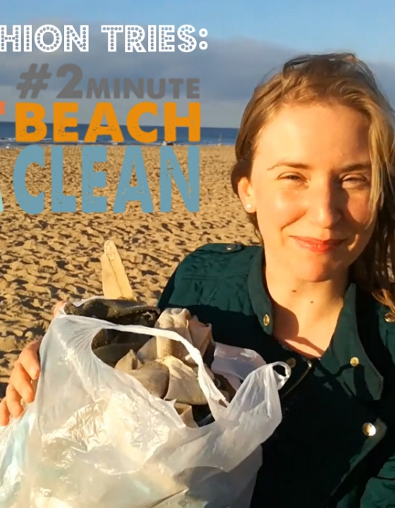 TrashFashion test de #2minutebeachclean!